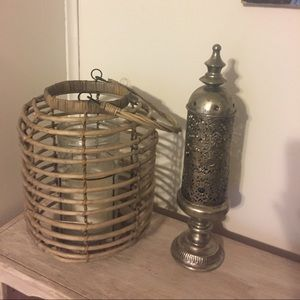 Indonesian tin candle holder